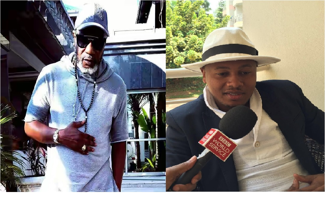 Koffi Olomide signe avec le PDG du label Bong&Co Mr Richard Bongania